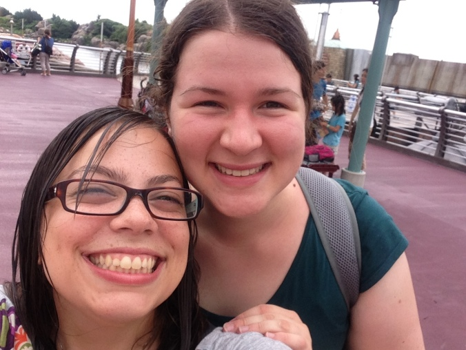 After getting wet despite our ponchos on a bumper boat-like ride.