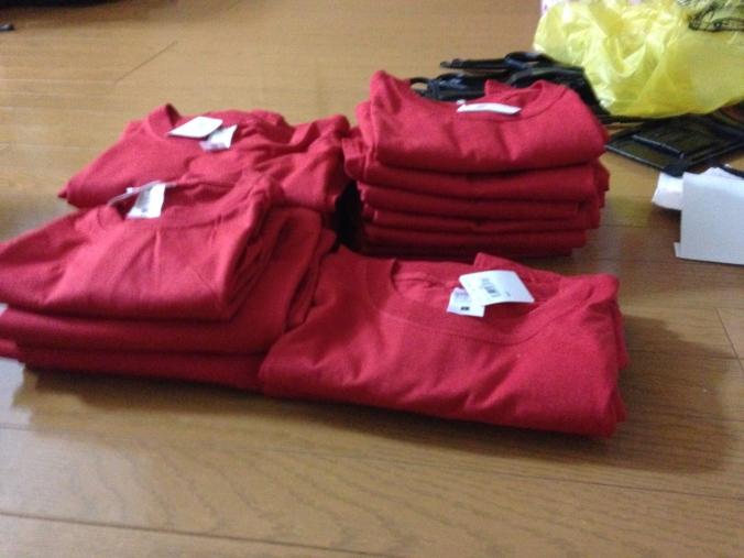 Volunteers` t-shirts