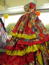 Probably my favorite dress that the students made.