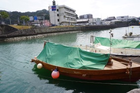 A traditional-style boat made from the local Obi Cedar.