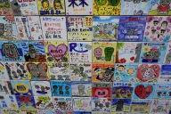 Some cool tiles near the souvenir shop.