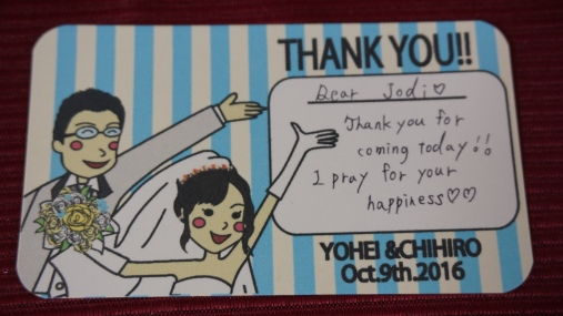 A cute card handwritten by Chihiro. Also, all the drawings were done by Chihiro herself.