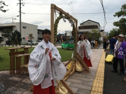 Some of the students from my school work as miko, or assistants to the priests.
