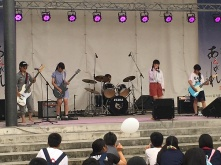 One of the rock bands from my school performing.