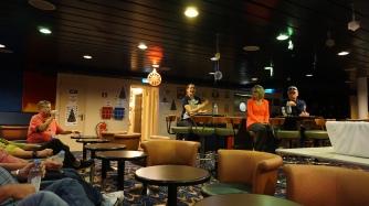 Crew members' bar.